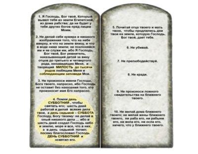 сколько заповедей в библии