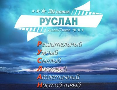 Что означает имя Руслан характеристика