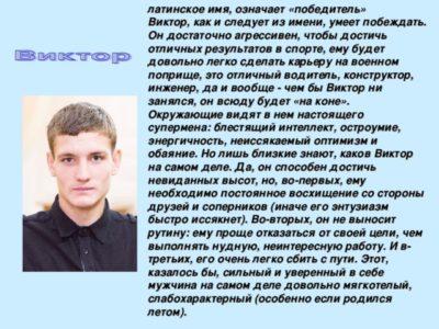 Что означает имя Виктор в переводе на русский