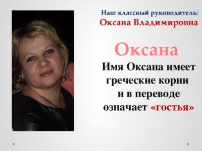 Как переводится имя Оксана