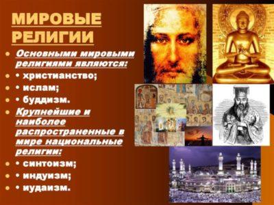 Сколько в мире христианских религий