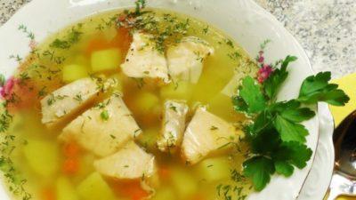 с какой крупой варят рыбный суп