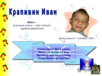 Что означает имя Иван для ребенка