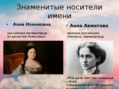 Какое второе имя у Анны