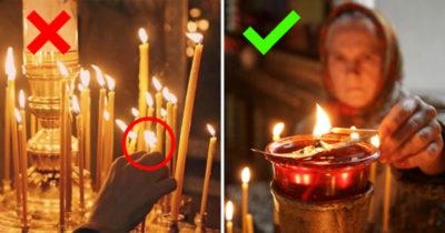 Как правильно поставить свечку в церкви