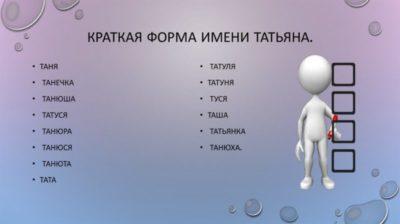 Что означает имя Таня с греческого
