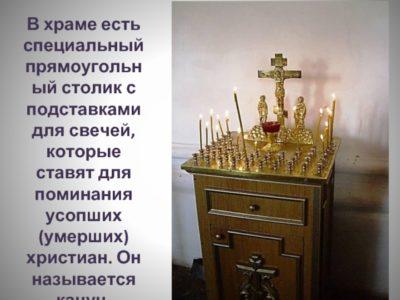 Где ставят свечи за упокой