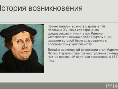 Как появились протестанты