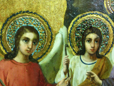 кто написал икону троица
